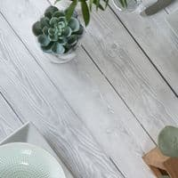 67cm Shabby White Wood Sticky Vinyl Fablon (200-8290) cut to size from 1 to 15 metres